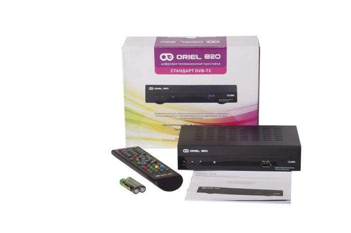 Телевизионная приставка oriel 820 dvb t2